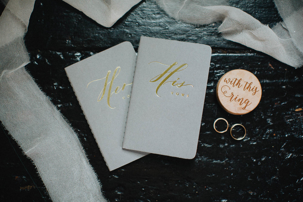 His and Hers Handwritten Vow Notebooks