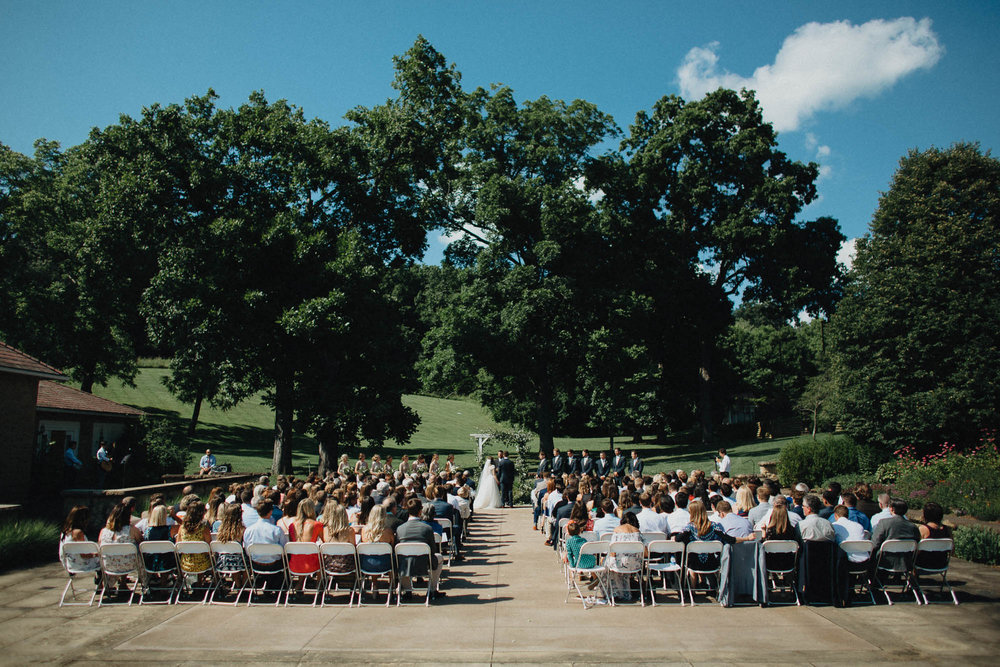 Outdoor Wedding Ceremony at Bryn Du Mansion in Columbus Ohio
