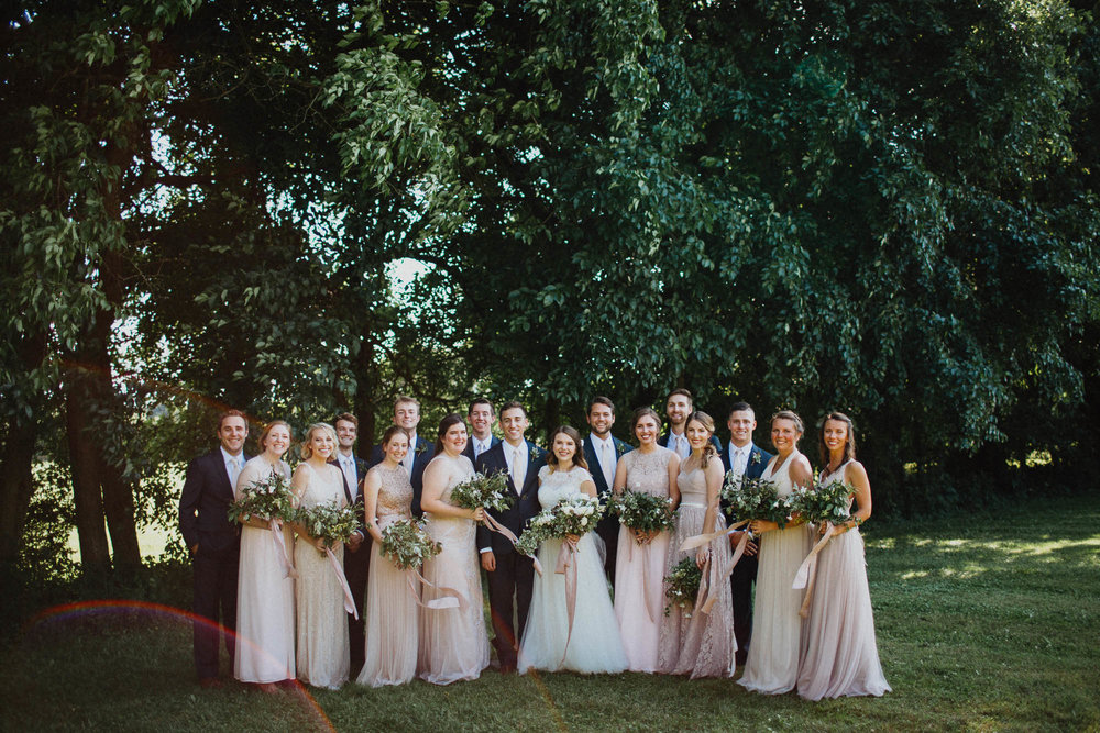 Gorgeous Wedding Party Photography with Sunflare