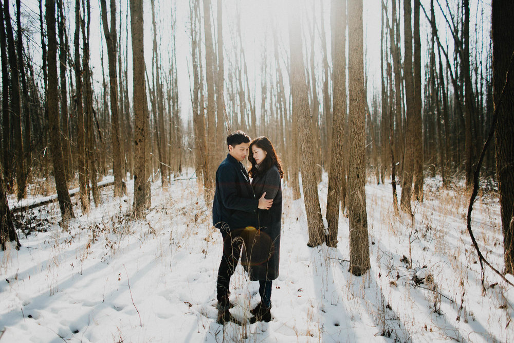 Minimal Adventure Engagement Photography Ohio