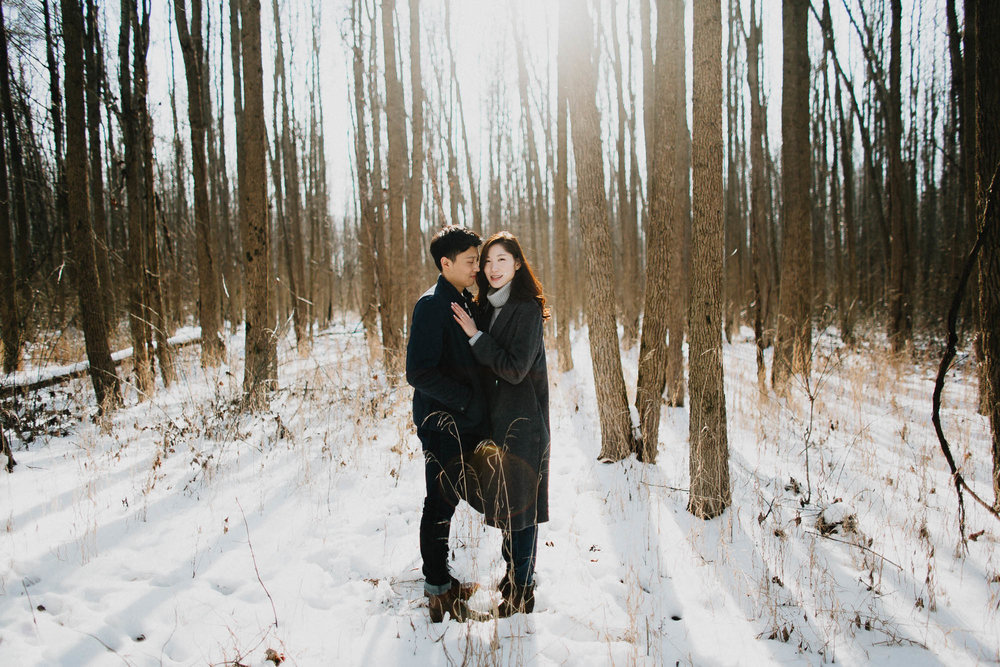 Walnut Woods Metropark Engagement Columbus Ohio
