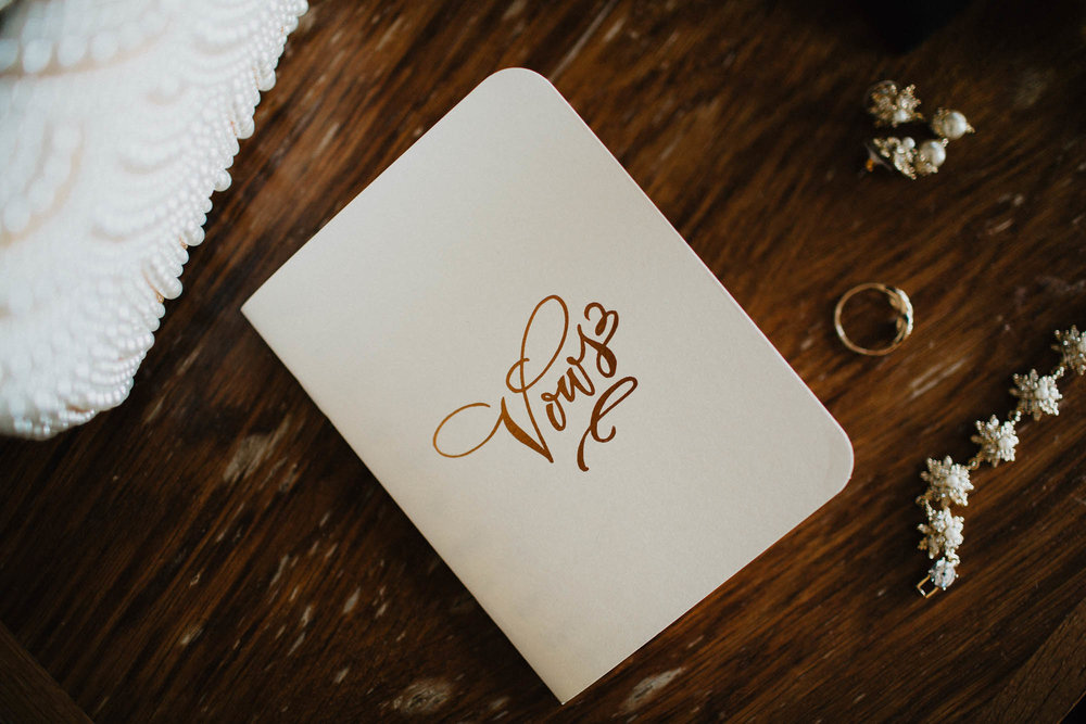 Custom Wedding Vow Notebook