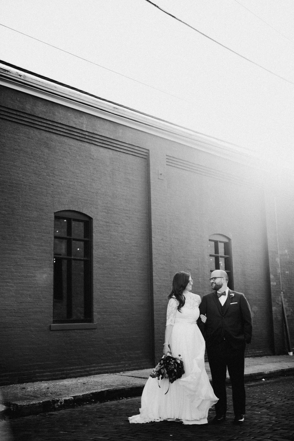 Bold Black and White Wedding Photos