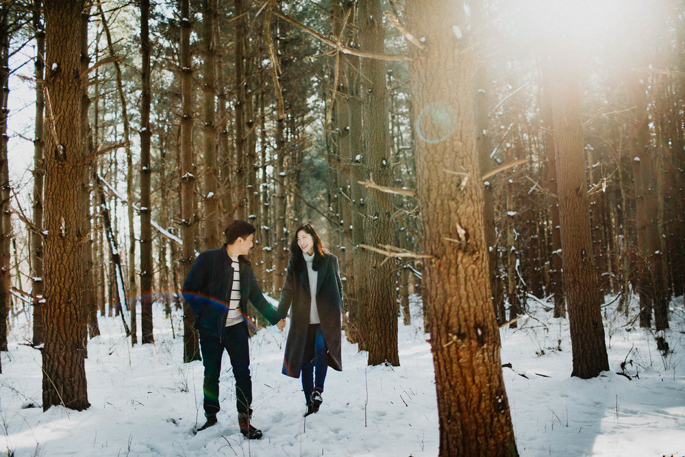Walnut Woods Tall Pines Engagement Columbus Ohio