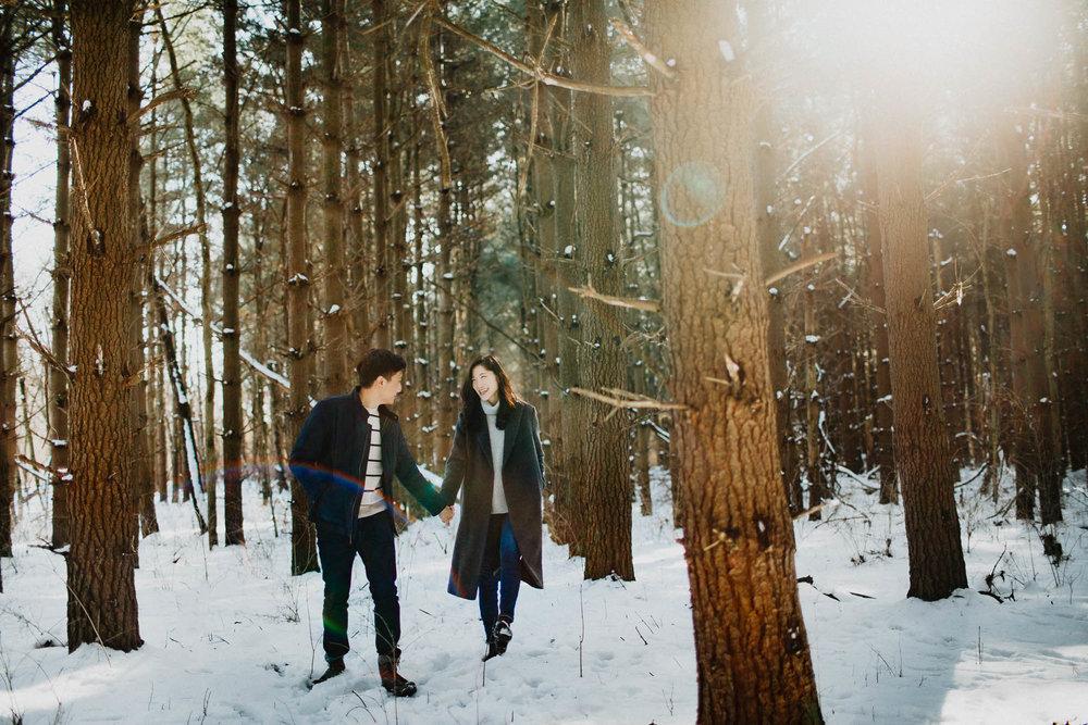 Walnut Woods Tall Pines Engagement Columbus Ohio