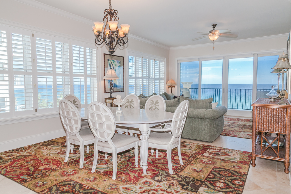Adagio Penthouse Gulf Front Living and Dining