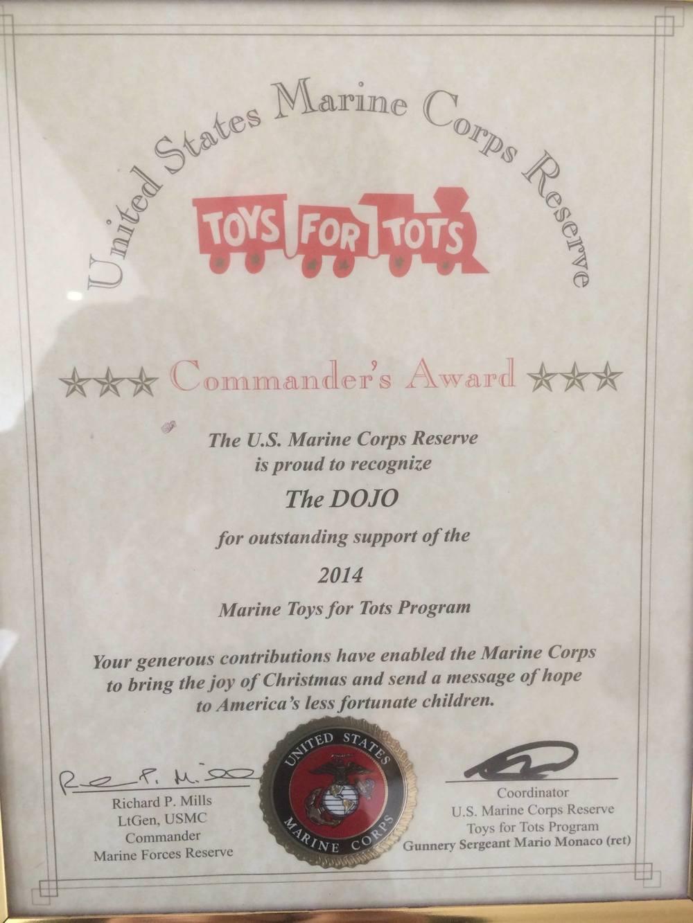 Toys For Tots TheDOJO Sensei Dan Rominski Rutherford NJ Karate Comendation 2.jpg