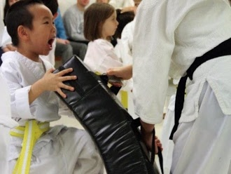 Self-Defense at TheDOJO in Rutherford NJ - Preschooler Performing the knee kick