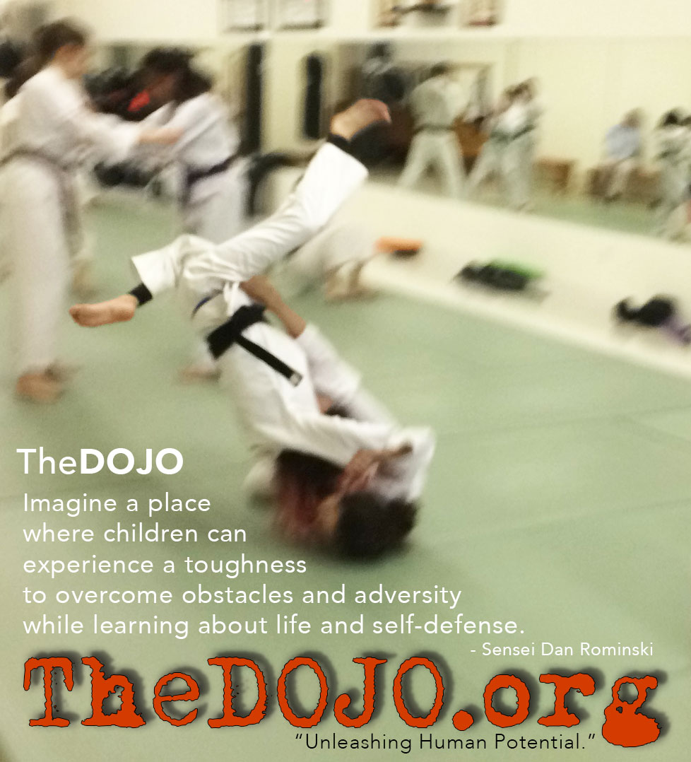 Children Perform Tomoe Nage at TheDOJO - Photo Courtesy of Sensei Dan Rominski