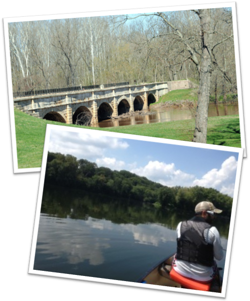 Antietam Aqueduct, photograph  ©  Bryan Seipp Fisherman, photograph  ©   Capitol Area Fishing