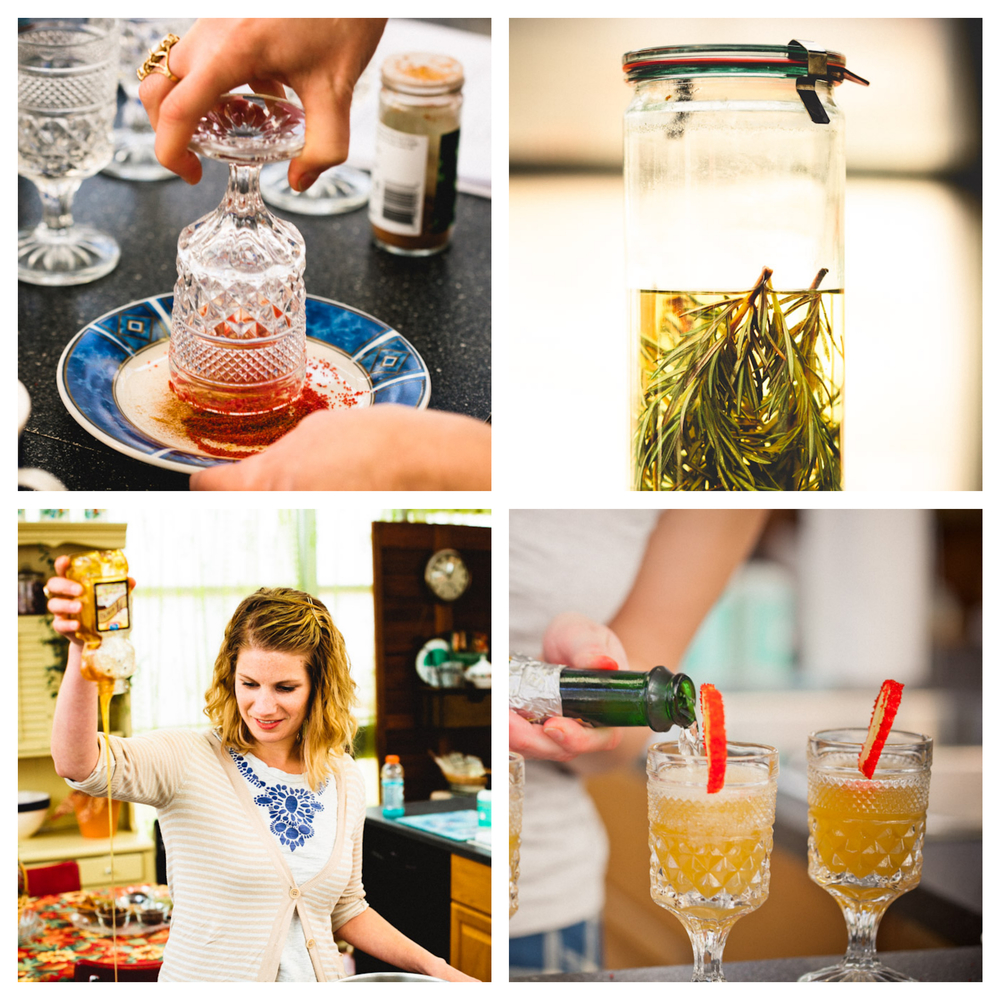 Dale Mackey has taught herbal cocktail classes at Erin's Meadow Herb Farm, and chronicled her cocktail experiments on her  blog  from 2008-2013.  She is the proprietress of Dale's Fried Pies and Co-Founder of The Central Collective.