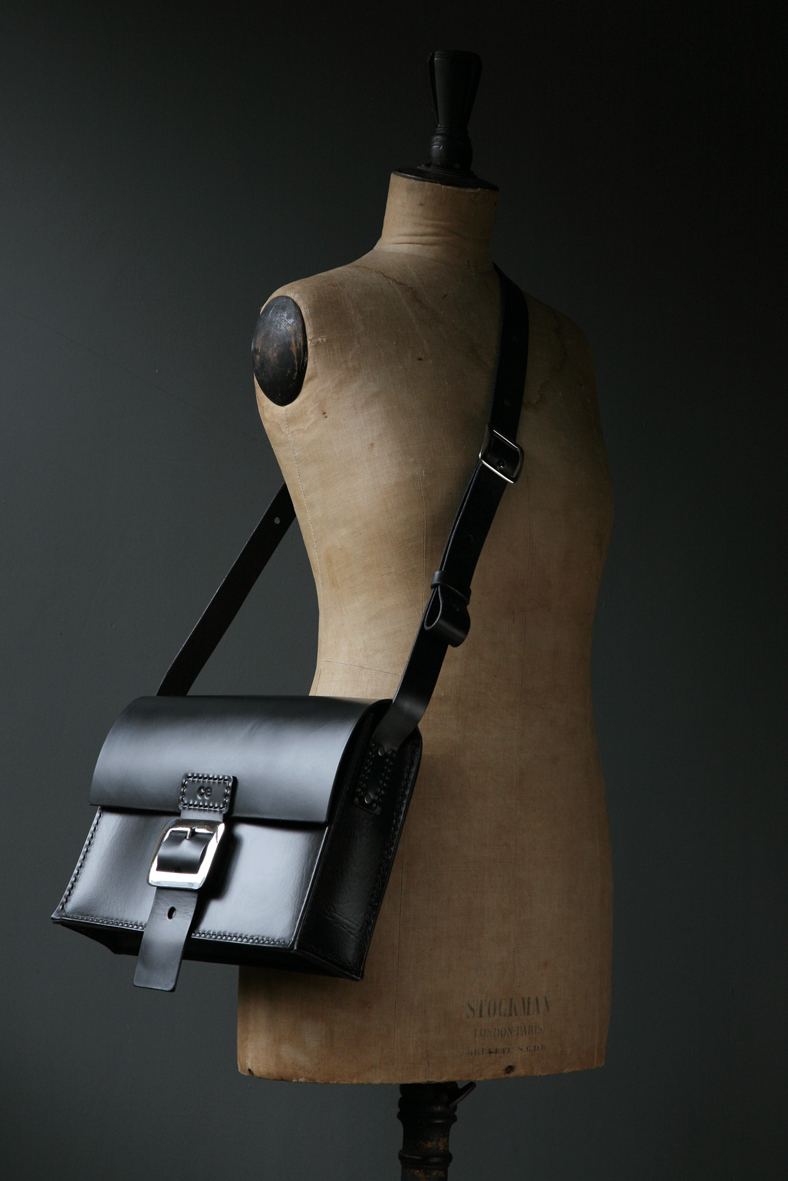 axel baby  33cm x 24cm x 9cm  satchel in coal black £220