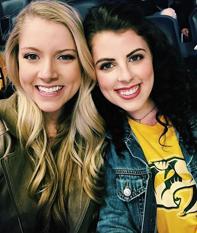 Had so much fun cheering on the @predsnhl and @rgrimaldi23 tonight! Thanks @abbygrimaldi23 for making my first NHL experience the BEST. 😍🏒 #ndtakestn #gopreds #nashville