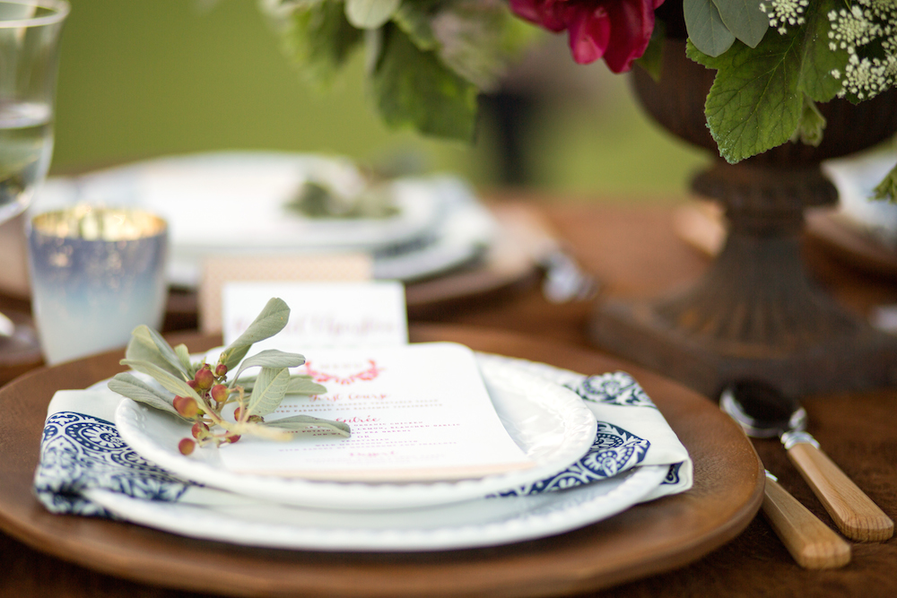Lara brought amazing style to the shoot! Design and coordination: Sealed With A Kiss Events; floral design: Hana and Pine; furniture rentals: Pieces by Violet; tablewares: Pottery Barn; stationery design & letterpress: Flight Design Co. for Parallel Print Shop Special Events