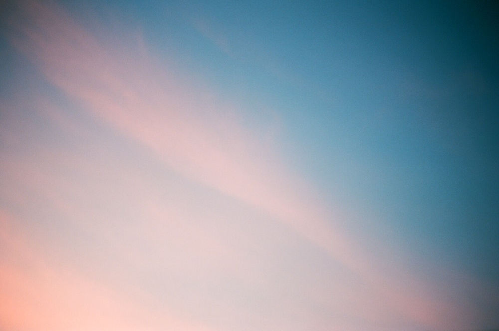 Breaking out of my own rut by shooting on 35mm. Los Angeles sky at sunset.