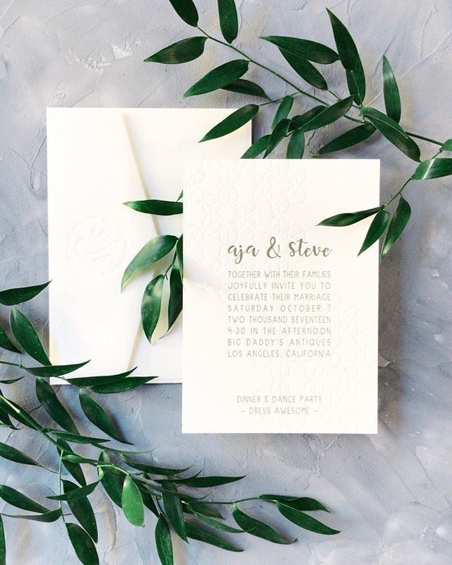"Things you need in your world: @rebeccayale is creating a styling course for wedding details ✨ I got to do a test run, and of course I chose the ""challenge"" suite: A simple, one-note invite and NO flowers 😱 I love the simplicity of inspiration, how sometimes you only need a little bit to make a lot #less is more 🌞 Invitation: @cecilespaperco; Styling Surface: @simplyrootedsurfaces 🥂 . . . . #daybreakanddusk #daybreakandduskphoto #gooutside #losangelesphotographer #losangelesweddingphotographer #lawedding #laweddingphotographer #laweddingphotography #losangelesweddingphotography #weddingphotographer #weddingdress #realwedding #wildheart #modernbride #weddingphotography #weddingday #weddingplanning #weddings #lovebirds #weddingdress #weddingtime #weddinginvitations #weddinginvitation #weddinginvite"