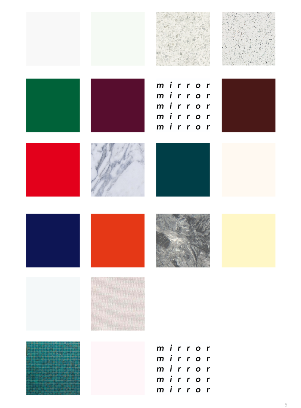 material & color palette