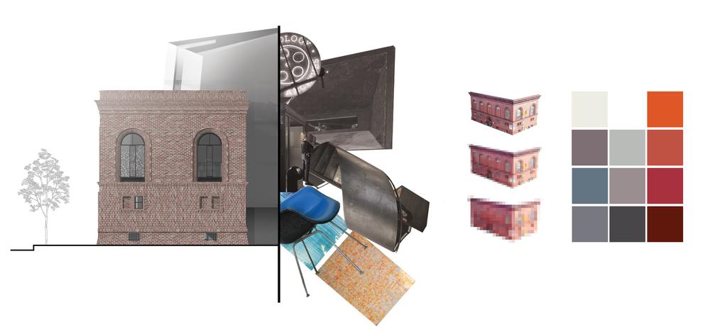 façade and interior preservation concept & color palette