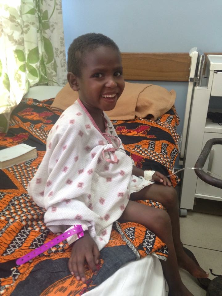 Six-year-old Allen before surgery