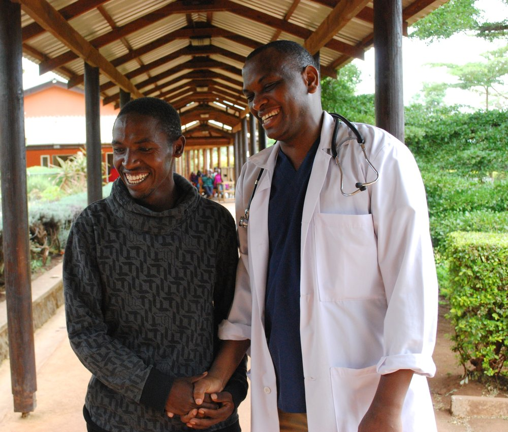 Dr. Badyana and a healthy and grateful Paulo