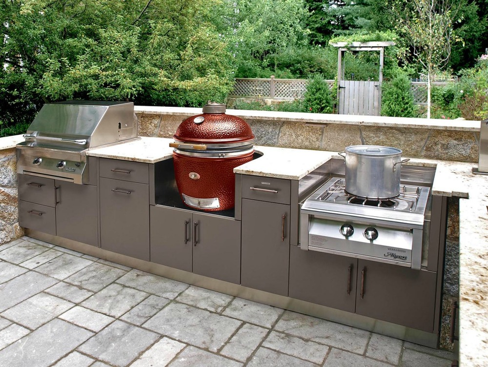 Outdoor cabinetry from Brown Jordan