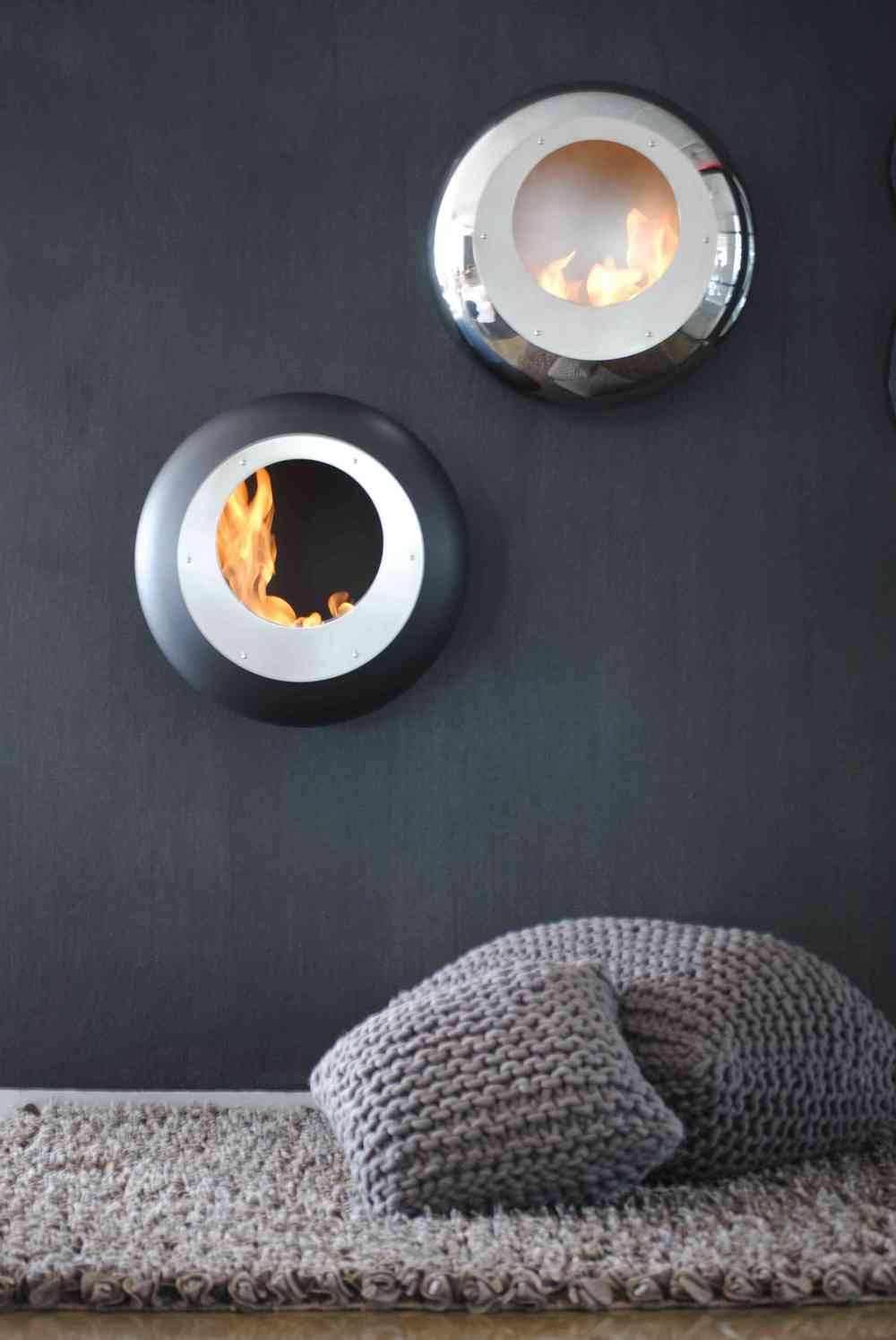Cocoon's wall-mounted fireplaces