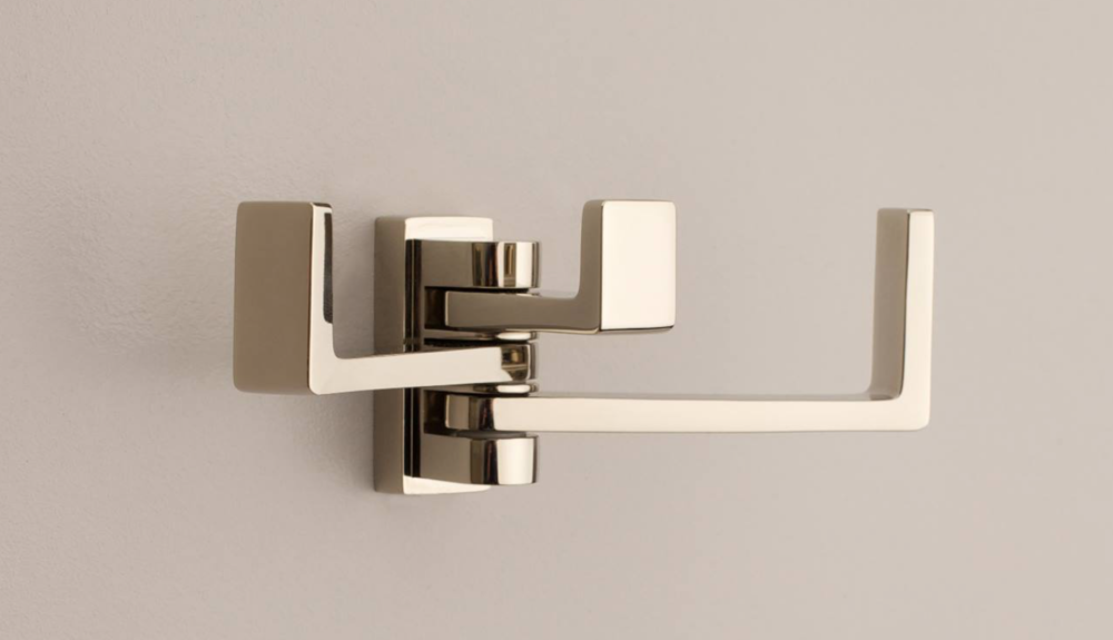A pivoting towel bar from Ginger.