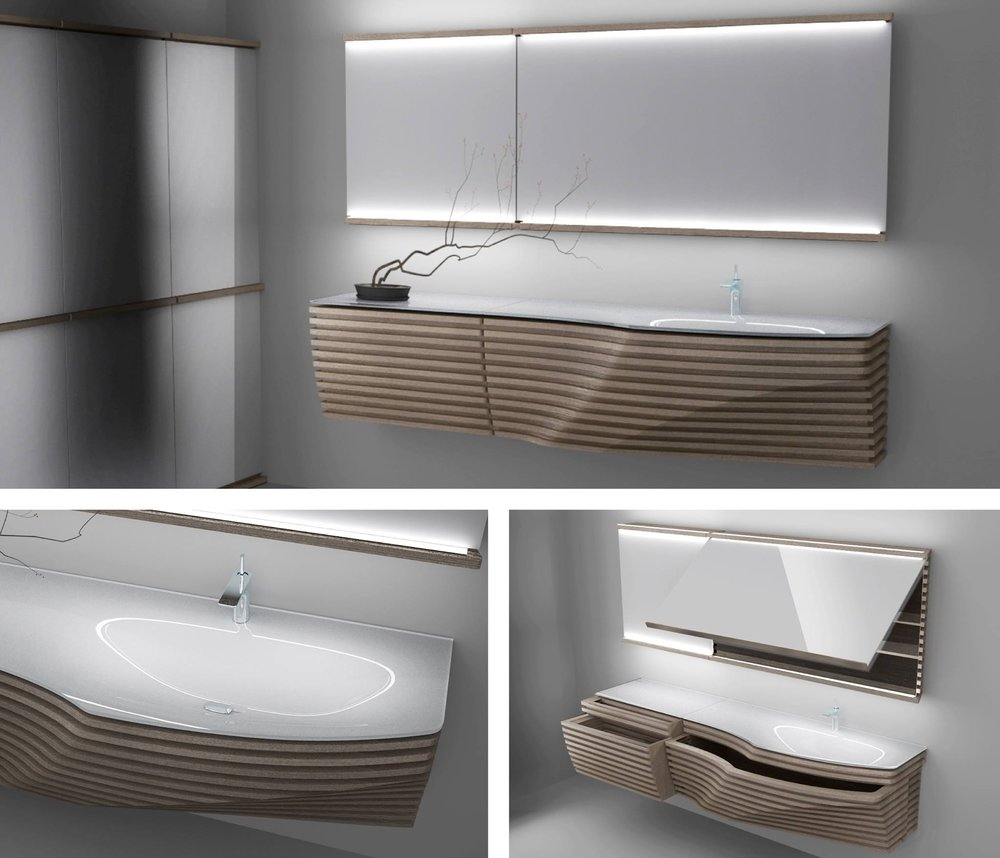 New & Notable: High-style bathroom furnishings from Ronbow, Stone ...