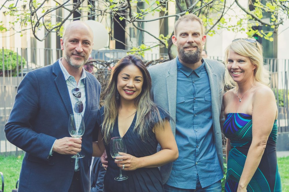 Troy Hanson, Edel Legaspi, Christopher Courts and Megan Reilly at the Bulgari Hotel