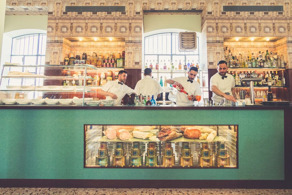 The Wes Anderson-designed Bar Luce at the Prada Foundation