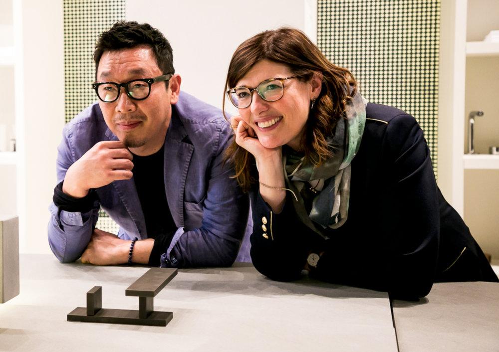 Designer Paik Sun Kim and Fantini CEO Daniela Fantini
