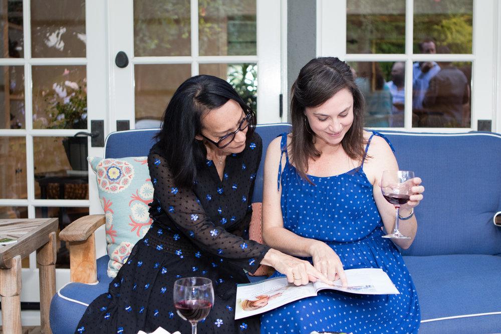 Zabra Yee and Danielle Roman enjoy the issue