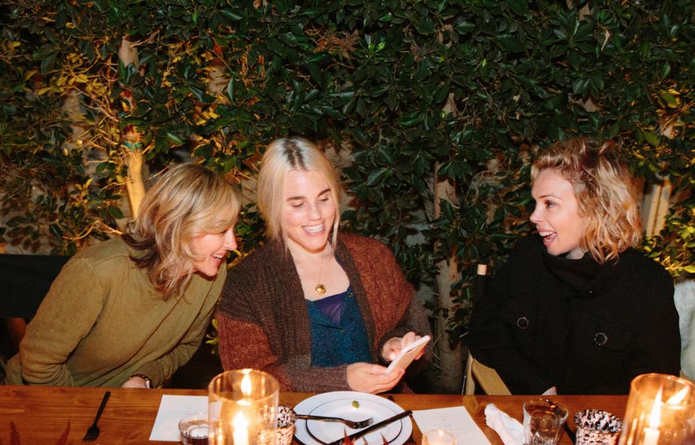 Ginna Christensen, Lauren Soloff and Simone Harouche