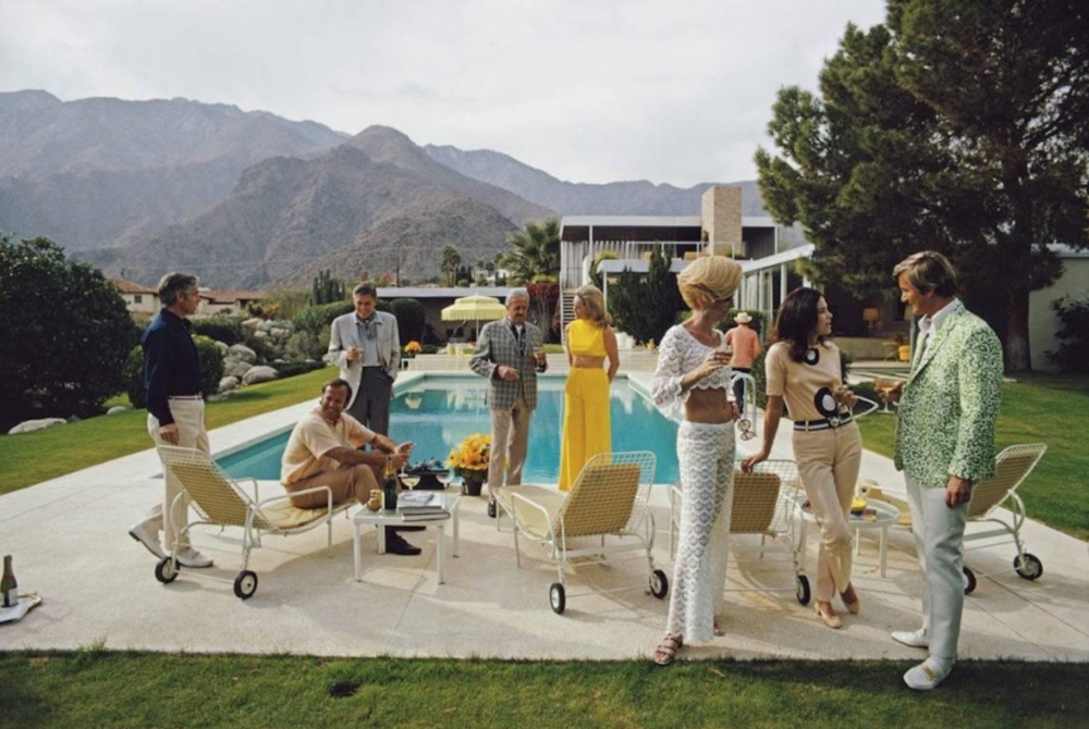 Desert House Party, Palm Springs, 1970 by Slim Aarons