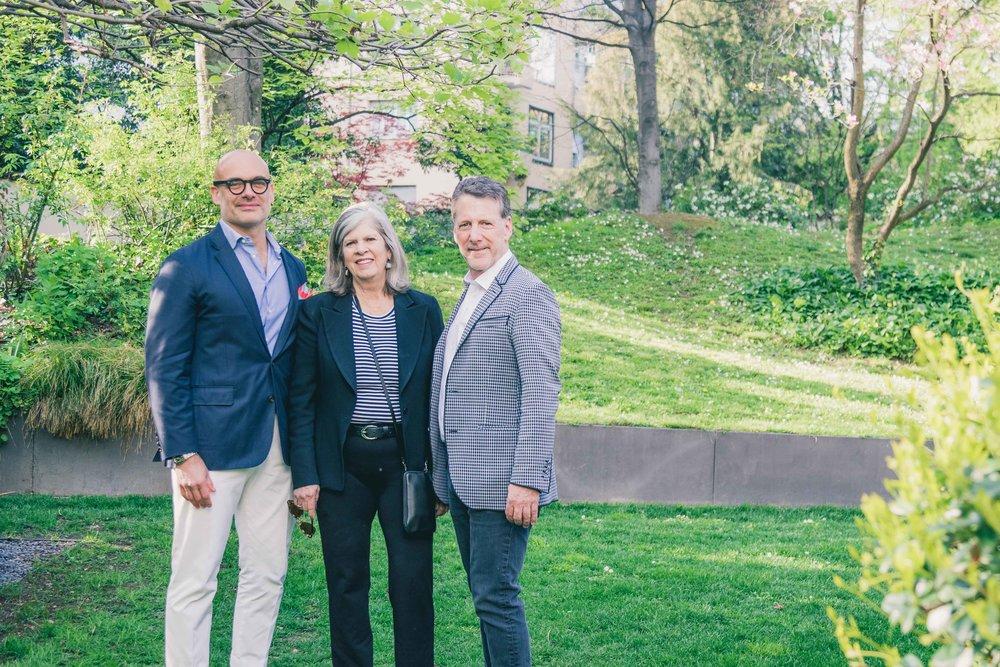 Marcello Lucchetta of Promemoria, Barbara Lowenthal of Harrison Design and Russ Diamond