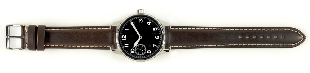 Brown Leather Strap on Field Watch