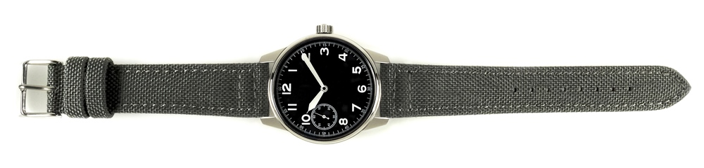 Grey Cordura Strap on Field Watch