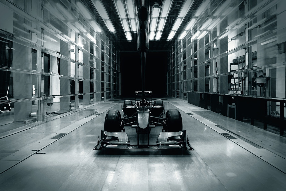 and finally the completed prototype is tested in a full-scale wind-tunnel.