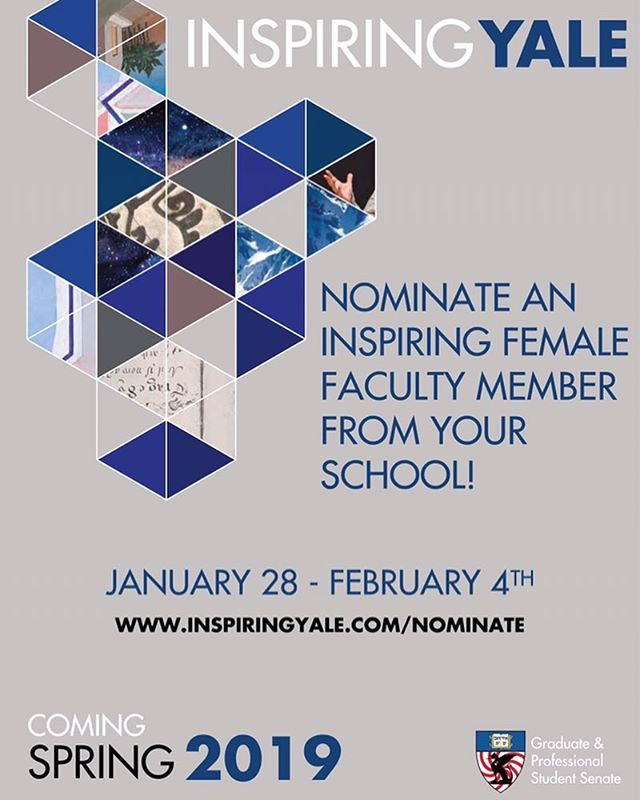Nominations are open for Inspiring Yale 2019! We're celebrating fabulous women this year for Yale's 50th and 150th Anniversaries! Visit inspiringyale.com/nominate and tell us who inspires you! #inspire #women #50WAY150 #yale