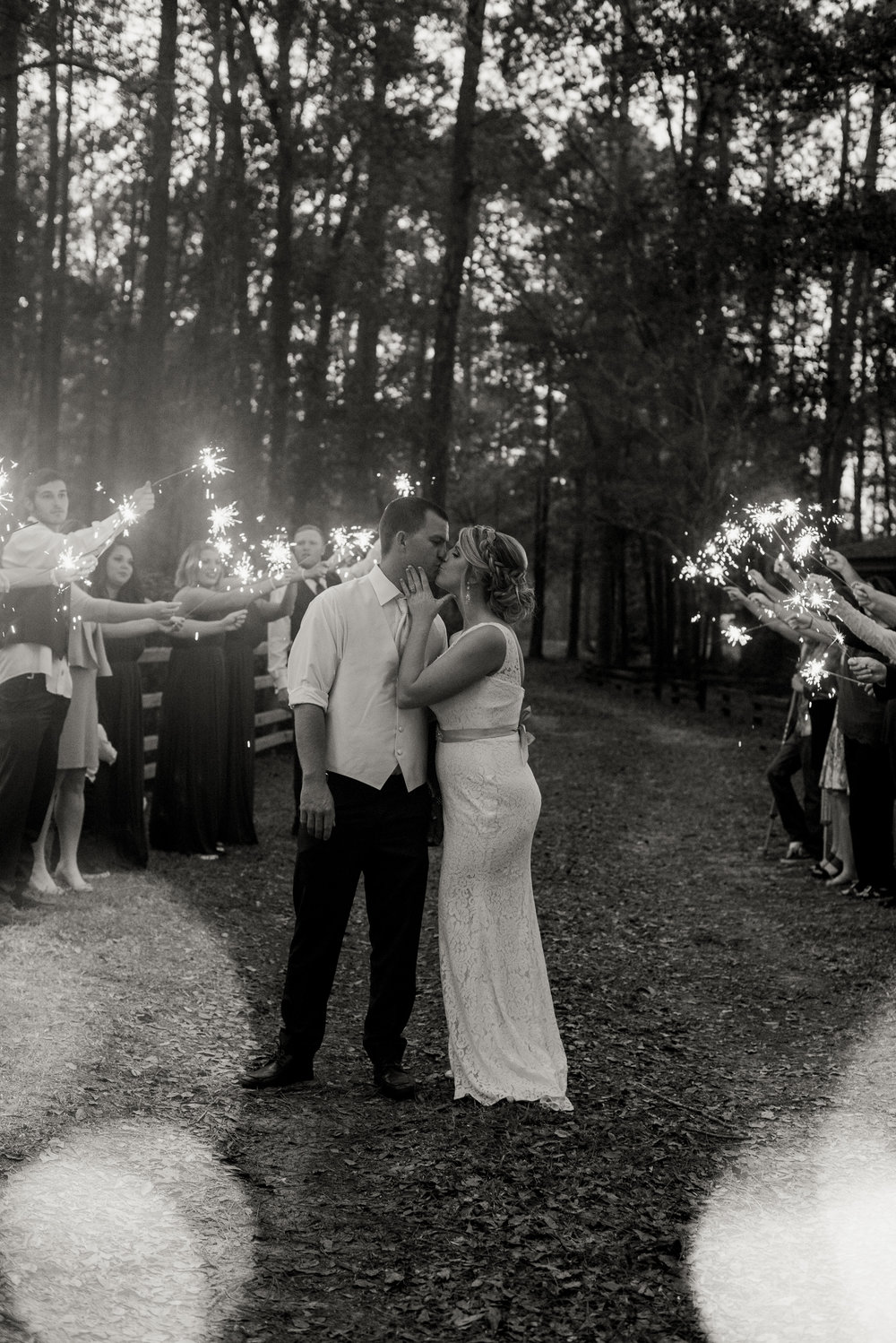 Seay-Wedding-Lake-Butler-Florida-Sparkler-Entrance