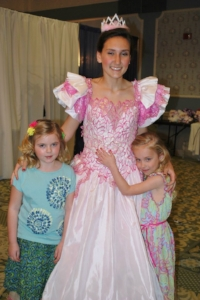 Pretty in Pink: Princess Cherrybella and adoring fans!