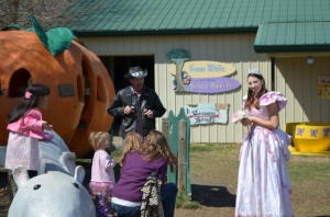 "The children were so excited to meet Princess Cherrybella. We heard one little girl say, ""I've never met a REAL princess!"" At Clark's Elioak Farm during Cherrybration days."