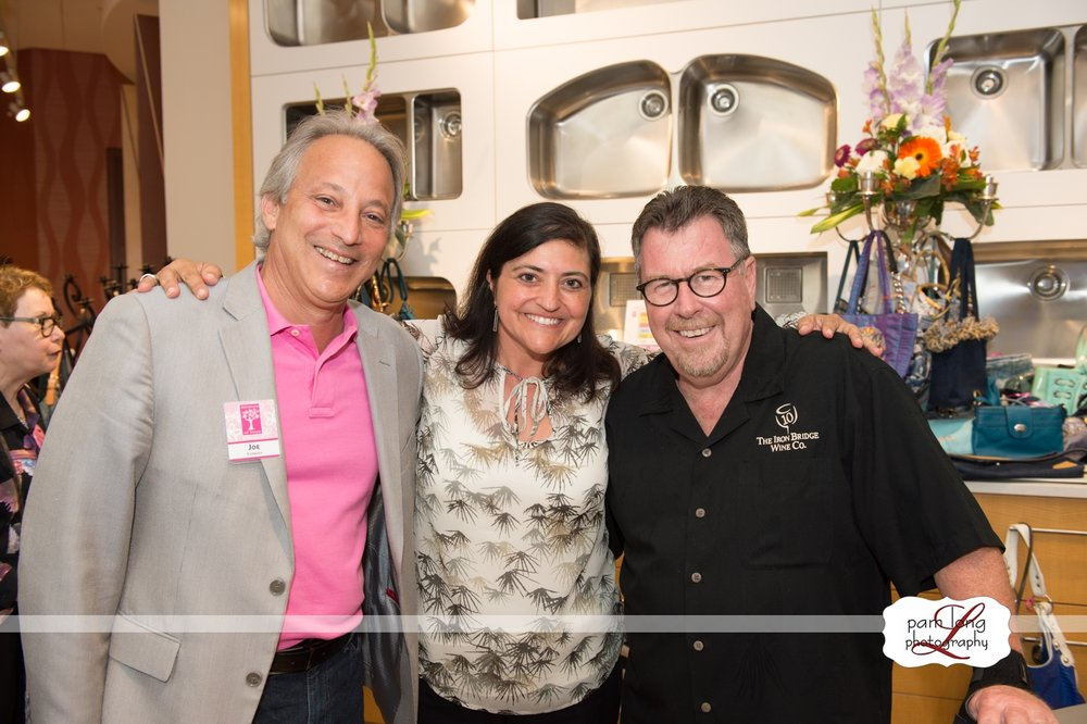 Blossoms of Hope Chair Joe Barbera, board member Anita Broccolino and Iron Bridge's Steve Wecker at our 2016 Power of the Purse.