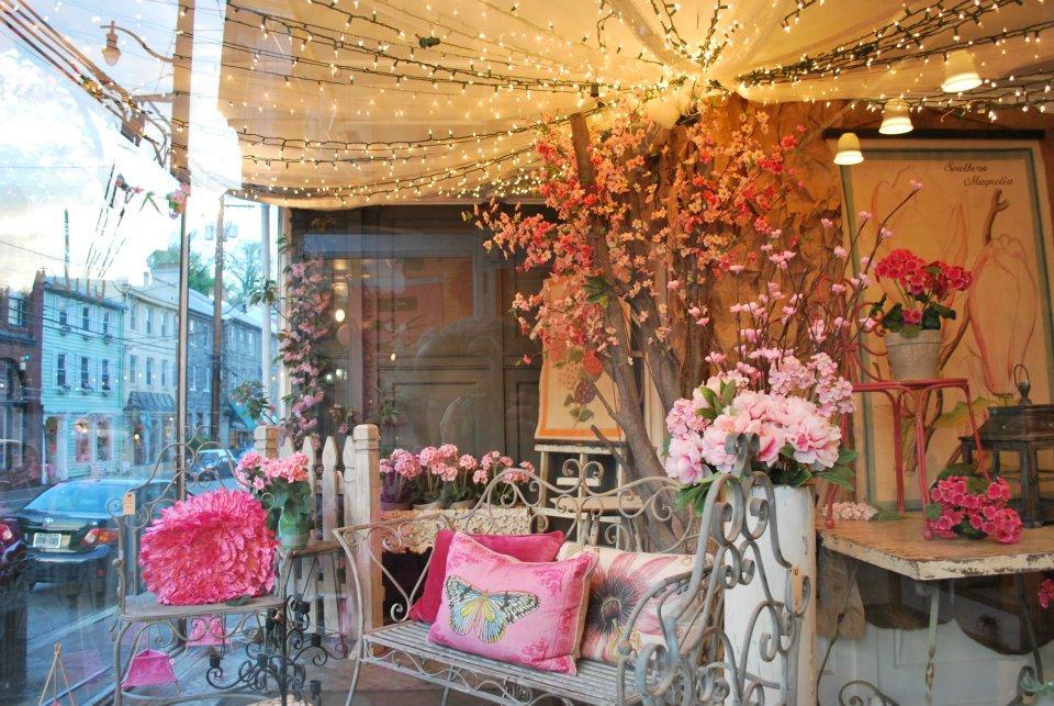 Pink Panes window on Main Street Ellicott City.