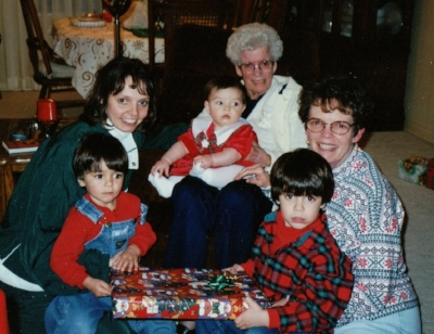 Me, my grandma, my mom, my daughter and my 2 nephews