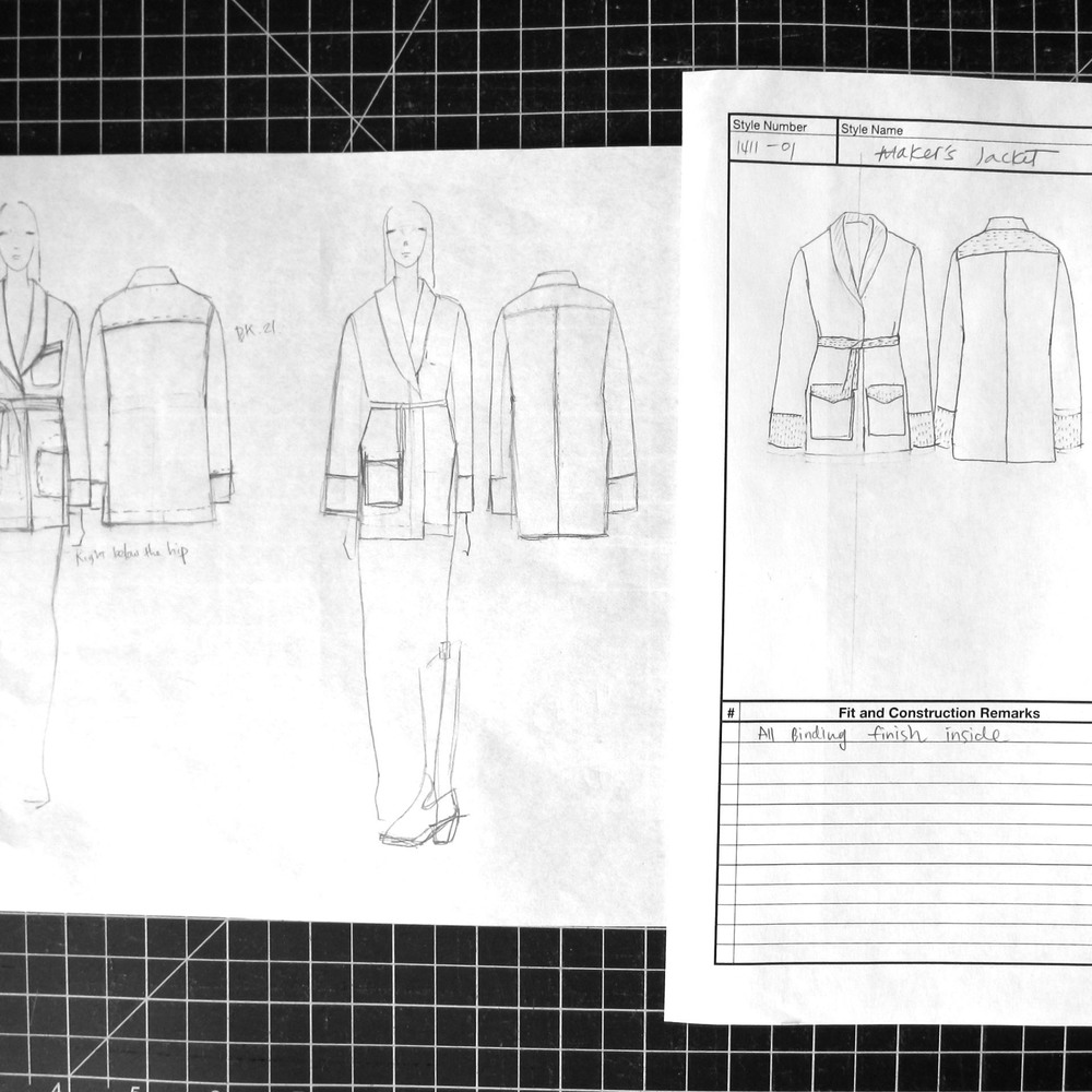 ++ There are so many possibilities when designing. The goal is to find the right combination of every element of the garment.