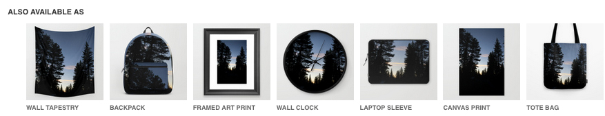 Yosemite Silhouette Trees