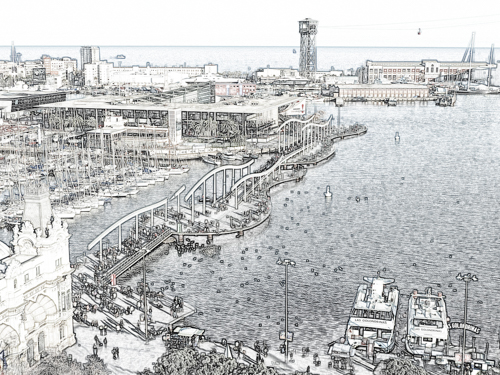 BCN Port Vell sketch v3 (v small) Oct 2014 copy.png