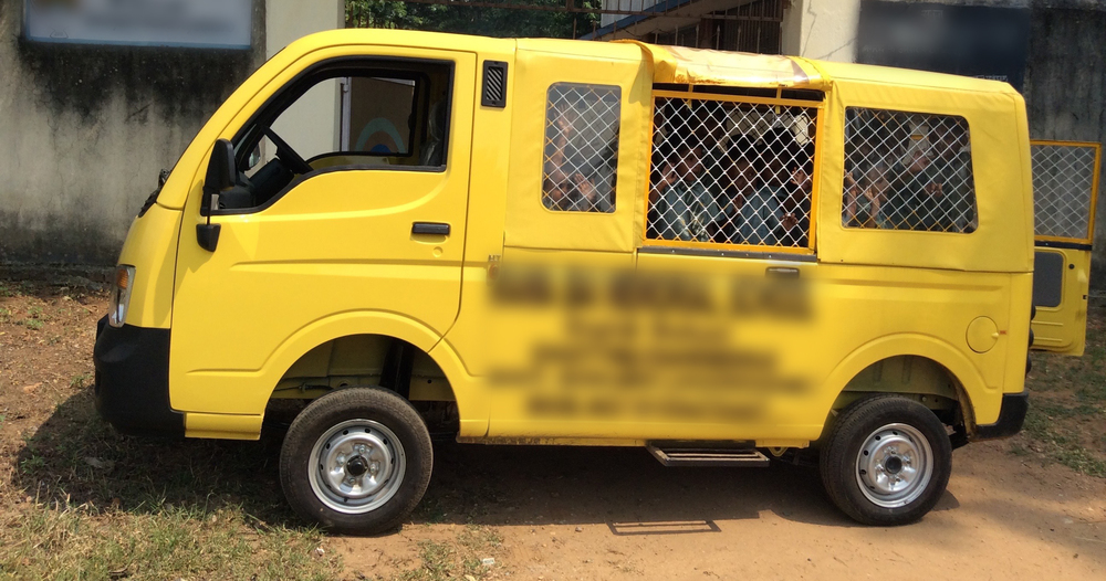 This van makes at least four trips before and after school to take care of all the kids, allowing them to learn and hear the Gospel.