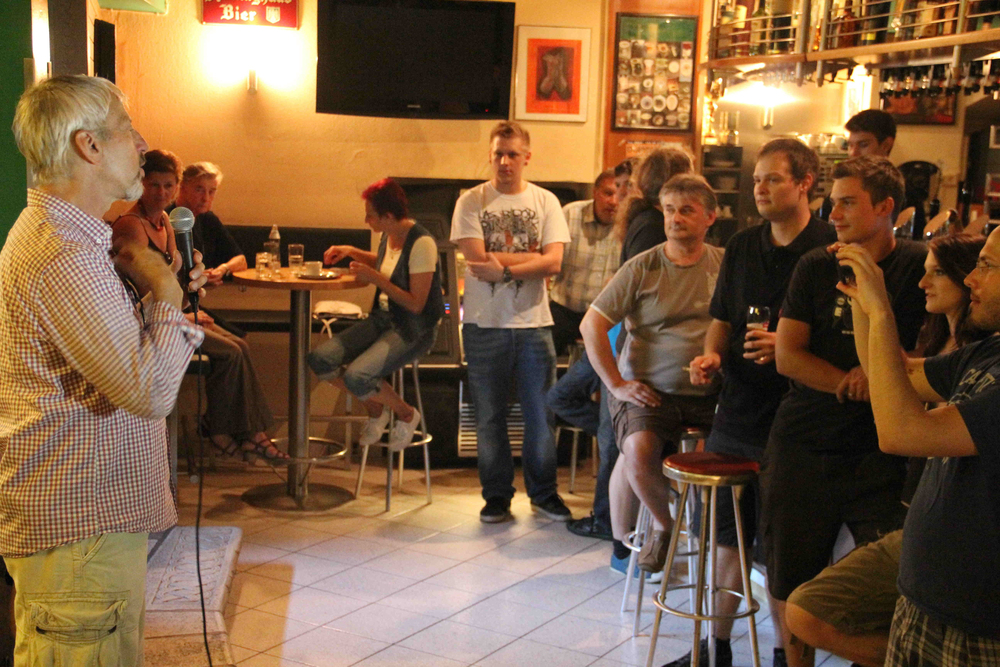 Preaching the Gospel and sharing hope in an Austrian bar.
